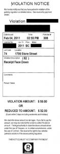 parking ticket victoria